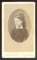 CDV F. Berthault Fils à Angers, une Actrice ?, Vintage albumen print c.1870