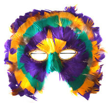 Mardi Gras Hoot Feather Venetian Mask Costume Party Masquerade Prom Pgg