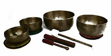 Klangschalen Set Klangmassage Singing bowl Meditation 4 St. 3251 g Hörprobe S507