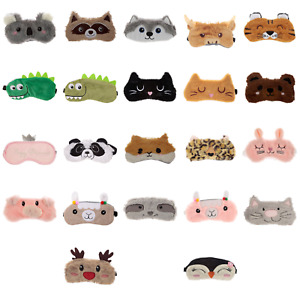 Kids Cute Fun Eye Mask Plush Sleep Aid Travel Masks Novelty