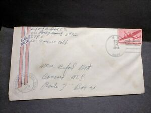 USS ROCKY MOUNT AGC-3 Naval Cover 1944 Censored WWII Sailor's Mail PEARL HARBOR