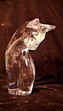 "Daum Art Glass, Free Form Crystal French Glass Cat, 8 3/4"" tall, lot #55"