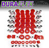 Mk1 Mazda MX5 Eunos Miata Front & Rear Suspension & Chassis Bush Set - Red PU