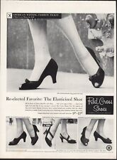 Vintage advertising print ad FASHION Red Cross Shoes Heels Lili Curvaceous 1956