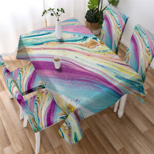 Marble Tablecloth Mineral Nature Surface Table Cover for Kitchen Dining Room