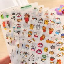 6 sheets Cartoon Cats PVC Stickers Kawaii Stationery DIY Scrapbooking Stickers