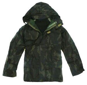 LADIES WATERPROOF WINDPROOF JACKET green camo hooded coat walking hiking S - XXL