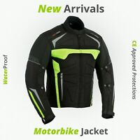 Motorcycle Touring Cordura Waterproof Jackets Adventure CE Removable Armored New