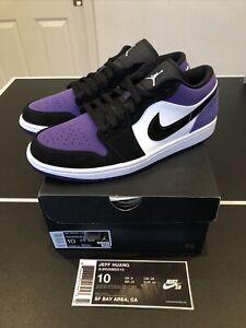 Air Jordan 1 Low Court Purple Size 10 553558 125 Shattered Travis Koston Retro