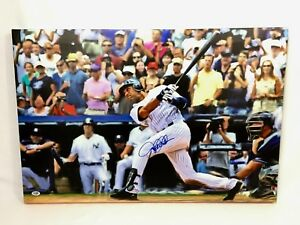 Derek Jeter Signed 20x30 Canvas Stretched New York Yankees 3000th Hit PSA/DNA
