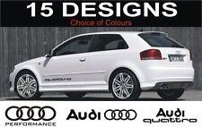 Audi S3 S4 S5 S6 A3 A4 A5 A6 S LINE AUDI QUATTRO Aufkleber 2 OFF Audi
