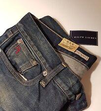 Ralph Lauren BNWT Classic Boot Cut Bootcut Maybridge Wash Jeans Embossed Emblem