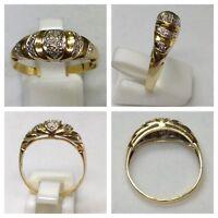 Hübscher 333er Gold Ring mit Zirkonien Goldring Goldschmuck