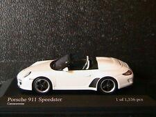 PORSCHE 911 997 II SPEEDSTER 2010 CARRARAWEISS MINICHAMPS 400069531 1/43 WHITE