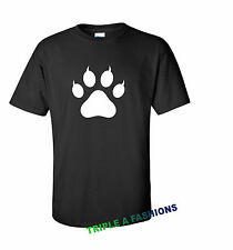 Wild Cat Paw Camiseta Negra/Divertido/Regalo