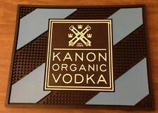 NEW & UNUSED Kanon Organic Vodka Blue Black Bar Spill Counter Mat Rubber - Rare!