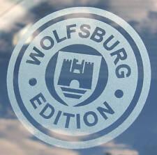 VW 'WOLFSBURG EDITION' 2 etched window stickers decals