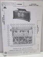 Vintage Sams Photofact Folder Radio Parts Manual Catalina 122-1478B Record Play