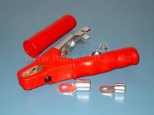 Ladezange Rot, Polzange Batteriezange Krokodilzange. Vollisoliert 600A, mit Ösen
