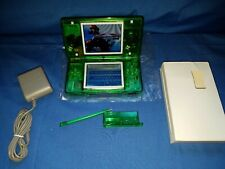 Nintendo DS Lite Console New CLEAR JUNGLE GREEN Shell with Charger