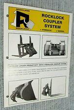 Rockland Coupler System Fork Grapple Bucket Vintage Single Page Brochure FREE SH