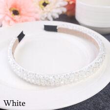 Bridal Children Crown Headwear Ornament Crystal Headband Rhinestone Hair Band White