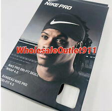 New Nike Pro Dri-Fit Skull Wrap 4.0 WHITE Unisex OSFM Workout Head Running Gym