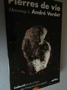 Dessin et dédicace de André Verdet / Pierre de vie Hommage à André Verdet / B20