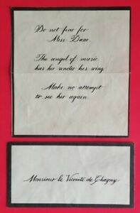 BROADWAY - PHANTOM OF THE OPERA - AUTHENTIC STAGE USED PROP LETTER AND ENVELOPE