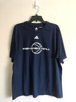 Adidas Men's Notre Dame ND Fighting Irish Basketball Navy T-Shirt L Climalite