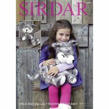 Sirdar 7966 Husky Dog Toy Knitting Pattern  - Chunky
