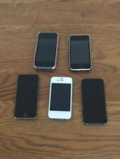 LOT OF 5 Apple iPhones in Good Shape and Working. 3GS, 4, 4S, 5, 5S. With Extras