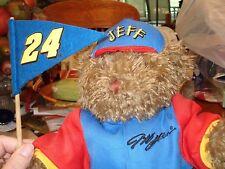 "Jeff Gordon #24 Plush Bear NASCAR Racing Pennant Flag/Hat Hamilton 1999  NWT 19"""