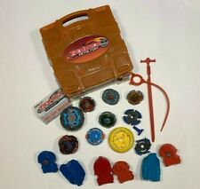 Lot of 6+ Beyblades launchers ripcords + case