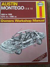 Austin montego haynes manual 1.3 & 1.6 1984 to 1989