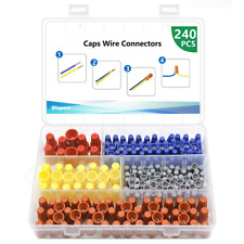 240 Pcs Electrical Wire Connectors Screw Terminals Twist Nuts Caps Wire Insert