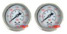 "Qty2 Liquid Filled 2.5"" Air Pressure Gauge Center Back Mount 1/4"" NPT 2-1/2"" 300"