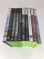 Xbox 360 Lot of 10 Games Turok Halo Splinter Cell Ghost Recon Ninja Crysis 2
