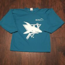 Worcester Jr. Sharks Teal Practice Hockey Jersey #3 AK Size Youth Large