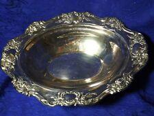 Silver Plated Bowl Ornate Trim