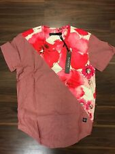 HUDSON OUTERWEAR RED FLOWERS SUMMER TSHIRT MENS LARGE NEW NWT