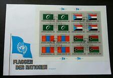 United Nation Comoros Yemen Mongolia Vanuatu Flag 1987 (sheetlet FDC)