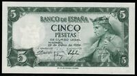 Billete de España 5 pesetas 1954 Alfonso X  S2136277 Madrid 22 de julio