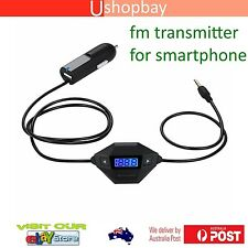 FM Radio Transmitter 3.5mm Jack Lighting USB Car Charger Smartphone iPhone