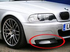 BMW E46 M3 CSL Replacemen Carbon Fibre Splitters for Replica CSL Bumper UK Stock