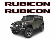 Pair Black & Red Rubicon Vinyl Decals For Jeep Wrangler New Free Shipping USA