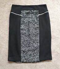 FORCAST BLACK TEXTURED PANEL PENCIL SKIRT SIZE 6 *AS NEW*
