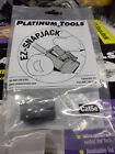 EZ-SnapJack CAT5E Black 705BK-1 by Platinum Tools, Lot of 8