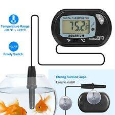Lcd Digital Fish Tank Aquarium Water Meter Thermometer Temperature + Suction Cup