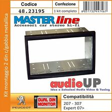MASCHERINA AUTORADIO 2 DIN PER PEUGEOT 207 2007/> 90195